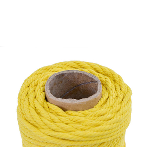 Image 5 - 4mmx110yards 100% Cotton Cord Colorful Rope Beige Twisted Craft Macrame String DIY Wedding Home Textile Decorative supply