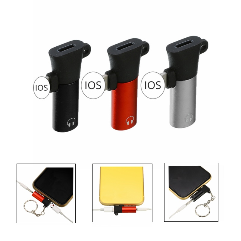 New Earphone Charging Audio Adapter Lightning To 3.5mm Headphone Jack Aux Charging Cable For Iphone XR XS Max X 8 7