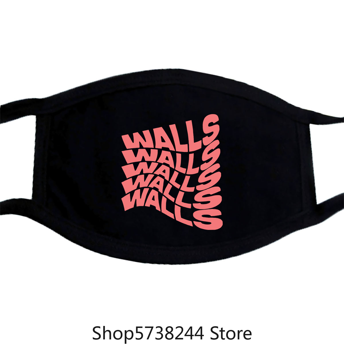Louis Tomlinson Merch Mask Colorful Pattern Washable Reusable Mask For Unisex Black