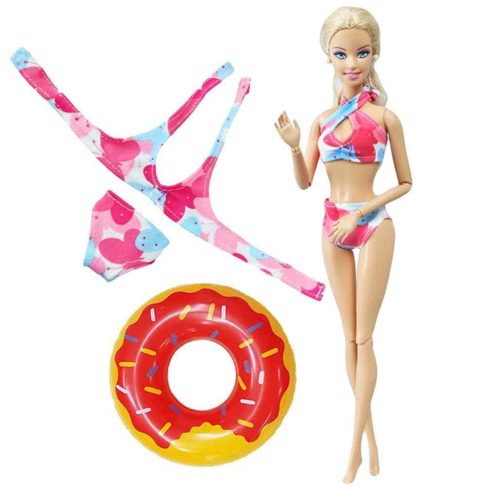 Random Swim Ring Fashion Doll Bikini Swimsuit Colorful Swimwear Outfit Clothes For Barbie Doll Accessories 12 Kids Toy Dolls Accessories Aliexpress