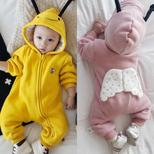 Baby one-piece clothes spring autumn winter baby ha Yi newborn full moon climbing 0-36