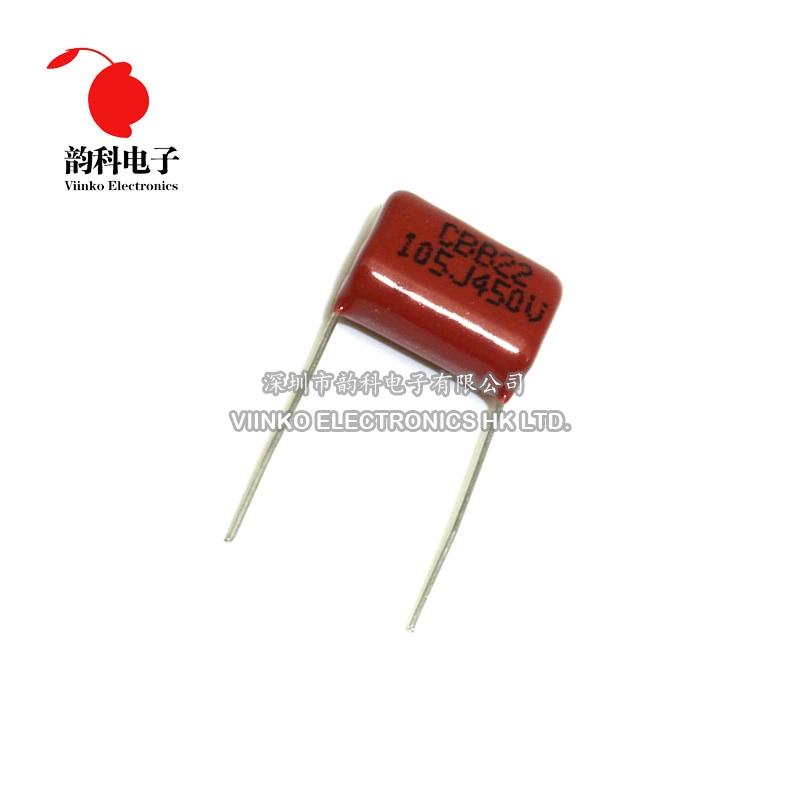 10 pièces CBB polypropylène film condensateur pas 15mm 105 1uF 450V