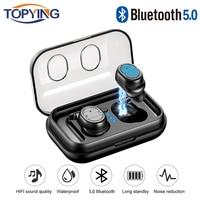 Latest TWS Earphones Bluetooth 5.0 Wireless Headsets Noise Resolute Headphones TWS Sport Wireless Bluetooth 5.0 With HD Micropho
