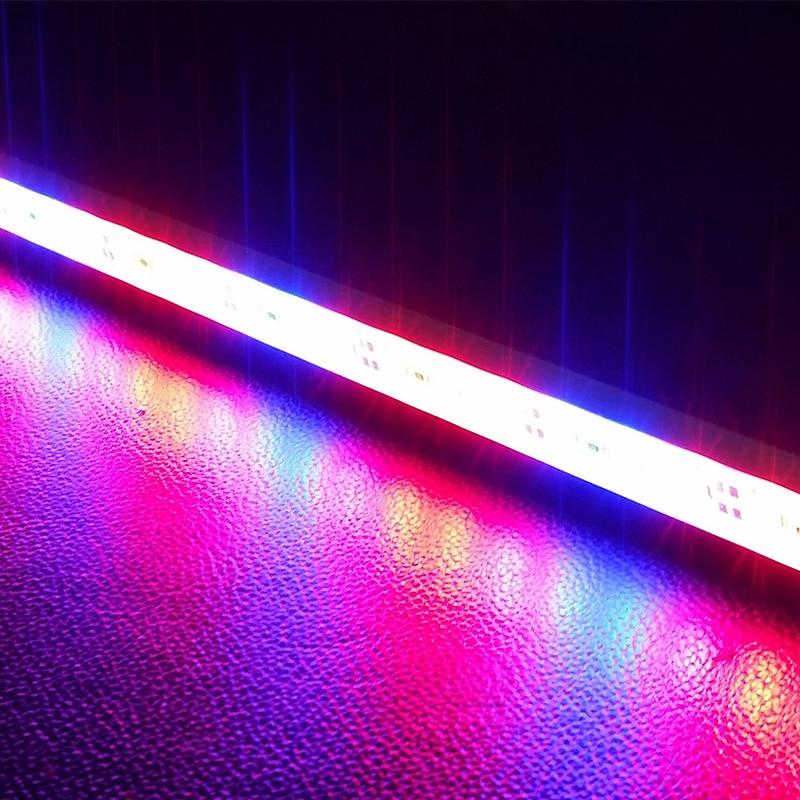 5pcs 0.5M Popular Waterproof IP68 SMD 5630 Led Aquarium Bar 12V LED 8w Grow Light Bars Strip Hydroponic Vegatables Plant Full