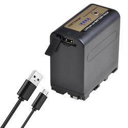 7800 мАч Новый NP-F960pro NP-F970pro NPF960 NPF970 батарея и USB зарядка выход для Sony PLM-100 CCD-TRV35 MC1500C L50