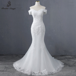 Элегантное свадебное платье-лодочка ncek, свадебное платье русалки 2020, свадебные платья, свадебное платье невесты, vestidos de novia robe de mariee