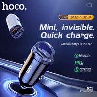 HOCO USB Auto Ladegerät PD 30W Schnelle Lade QC 4,0 3,0 Aufzurüsten FCP Für iPhone 12 Pro Max PD typ C Ladegerät PD 4,8 EIN Auto Ladegerät