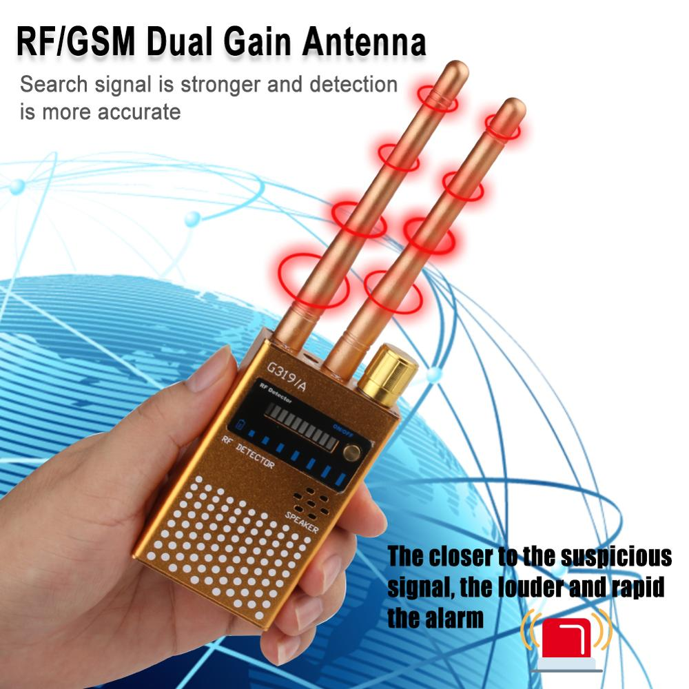 Wireless RF Signal Detector Cell Phone Detector Full Range Signal Bug Detector Finder GSM Device Detector 1-8000 MHz
