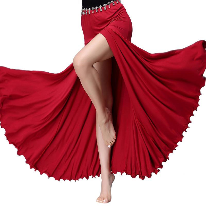 Skirts Belly Dance Costume Long Skirt Stage Performance New Sexy Women Bellydance Skirt Clothing Oriental 4 Colour