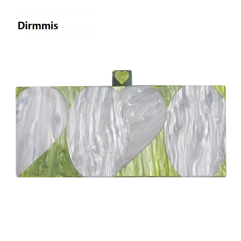 2020 New Brand Fashion Wallet Women Acrylic Cute Handbag White Green Woman Evening Bags Luxury Pearl Bags Vintage Box Clutch