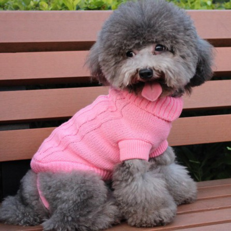 New Fashion & Cute Pet Dog Autumn And Winter Pet Sweater Knitted Clothes Small Puppy Cat Coat Winter Clothing