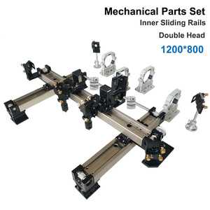 Para o cliente méxico 1200*800 diy metal componente mecânico kit trilho de guia linear montar co2 gravura a laser máquina cortador