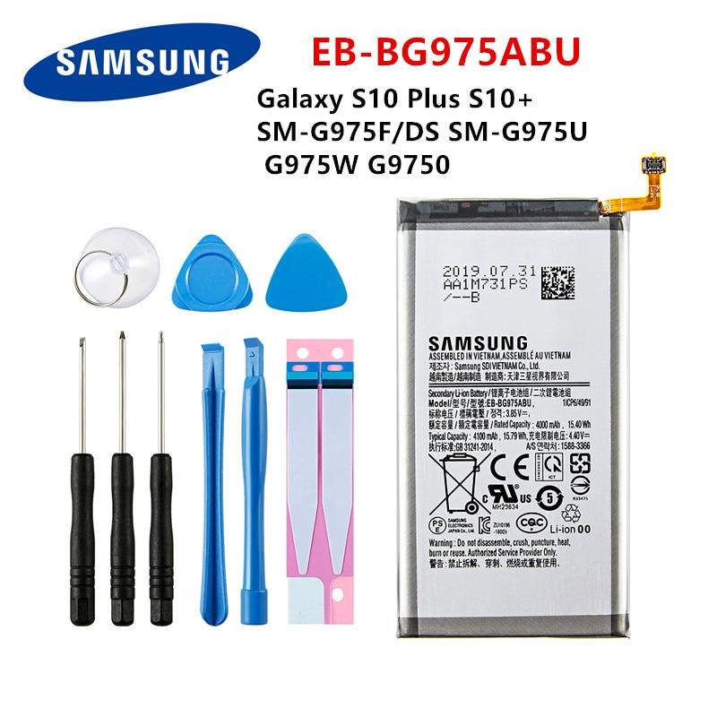 SAMSUNG Orginal EB-BG975ABU 4100mAh Battery For Samsung Galaxy S10 Plus S10+ SM-G975F/DS SM-G975U/W G9750 Mobile Phone +Tools