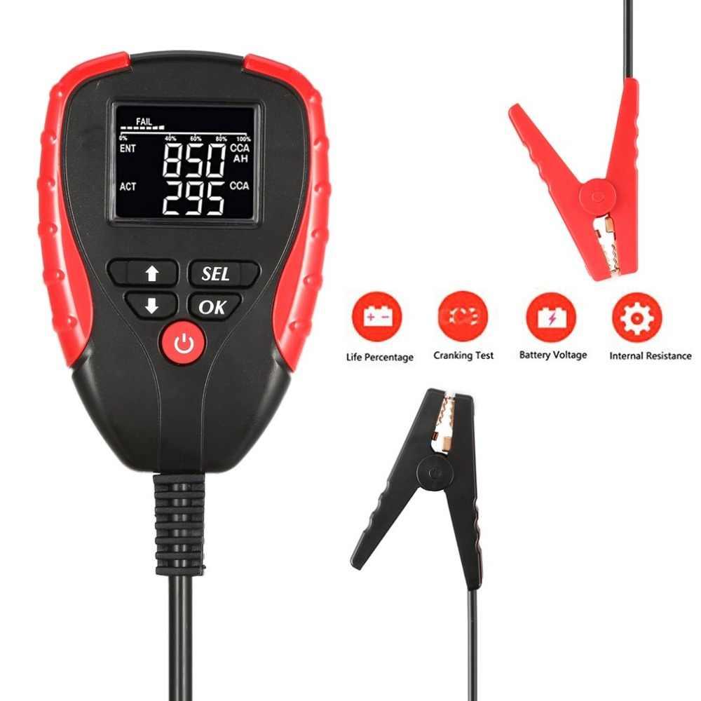 CUHAWUDBA Probador de Bater/íA Automotriz Analizador de Bater/íA y Alternador de 12V Micro-200