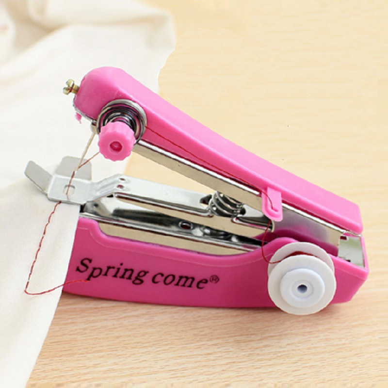 1pc Portable Sewing Machine Mini Manual Sewing Machine Simple Operation Sewing Tools Sewing Cloth Fabric Handy Needlework Tool