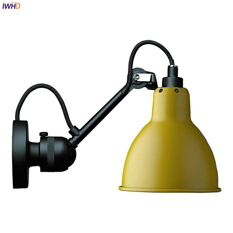 Современная настенная лампа IWHD в скандинавском стиле, регулируемый механический настенный светильник с рычагом для спальни, кабинета, гост...