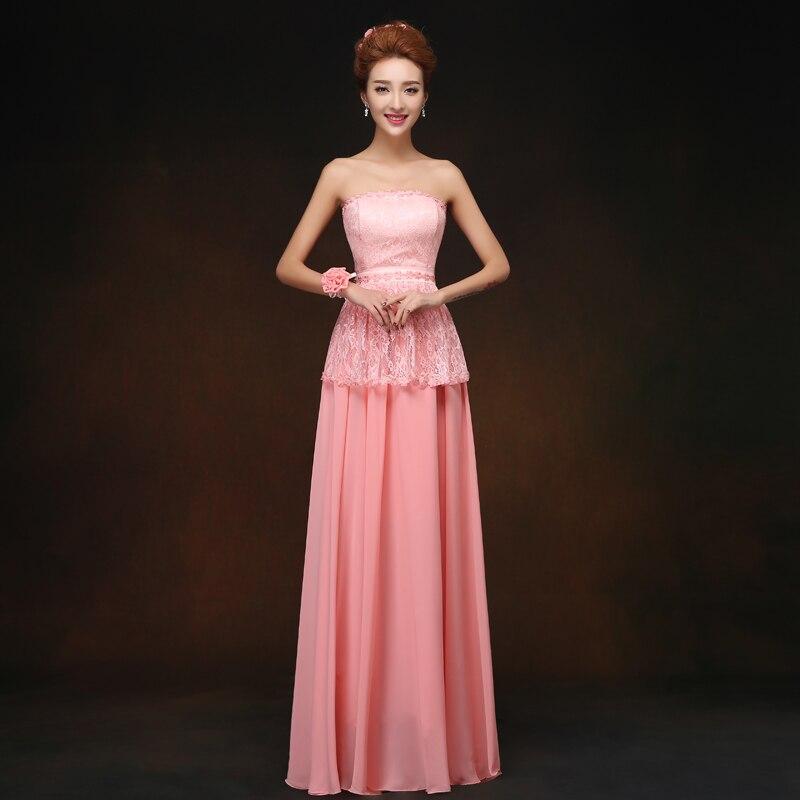 Vestido Azul Marino Elegant   Dress   Women for Wedding Party Pink Long Chiffon   Bridesmaid     Dresses   Sister Sweetheart Sexy   Dress   Prom