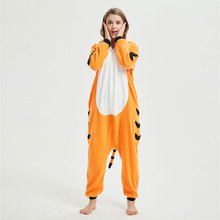 Bengal Tiger Kigurumi Onesie Animal Funny Jumpsuit Adult Women Men Home Wear Winter Outfit Sleepsuit Overall Halloween Pajama