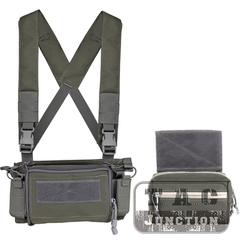 Simple Version MK3 Chest Rig Set Lightweight Armor Carrier 5.56 Magazine Pouch Tactical Utility Chest Rig For Hunting Airsoft GY