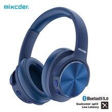 Mixcder e9 pro aptx ll fones de ouvido sem fio bluetooth cancelamento de ruído ativo usb carregamento rápido com microfone azul