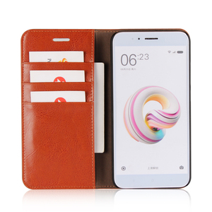Image 4 - 360 Natural Genuine Leather Skin Flip Wallet Book Phone Case Cover On For Xiaomi Mi A1 MiA1 A 1 Pro Prime 3/4 32/64 GB Xiomi