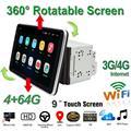 Автомобильный DVD-плеер, Универсальный 9-дюймовый DVD-плеер, 2Din, Android 9,1, мультимедийный плеер, GPS, радио, видео с поворотным на 360 градусов экраном...