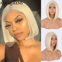 AISI QUEENS-Peluca de cabello sintético para mujer, pelo corto recto de corte Bob, color rubio, rojo, negro y marrón, uso diario
