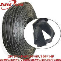 Silico Rubber Wire 20 22 24 26 28 30AWG 2P 3P 4P 5P 6P 8P10P 14P Power Cable Multi-core Connect Wire Parallel Wire Test Kable