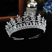 Vintage Cubic Zirconia CZ Wedding Bridal Tiaras and Crowns Pageant Headpieces Party Prom Hair Accessories Gift for Women Girls micro paved zircon crown full cubic zirconia tiara cz tiaras vintage bridal diadem wedding hair accessories coroa noiva wigo1172