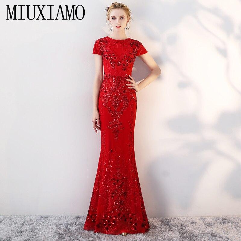 MIUXIMAO personnalisé grande taille luxe paillettes broderie Maxi robe de mode robe de soirée femmes élégante longue robe femmes Vestido
