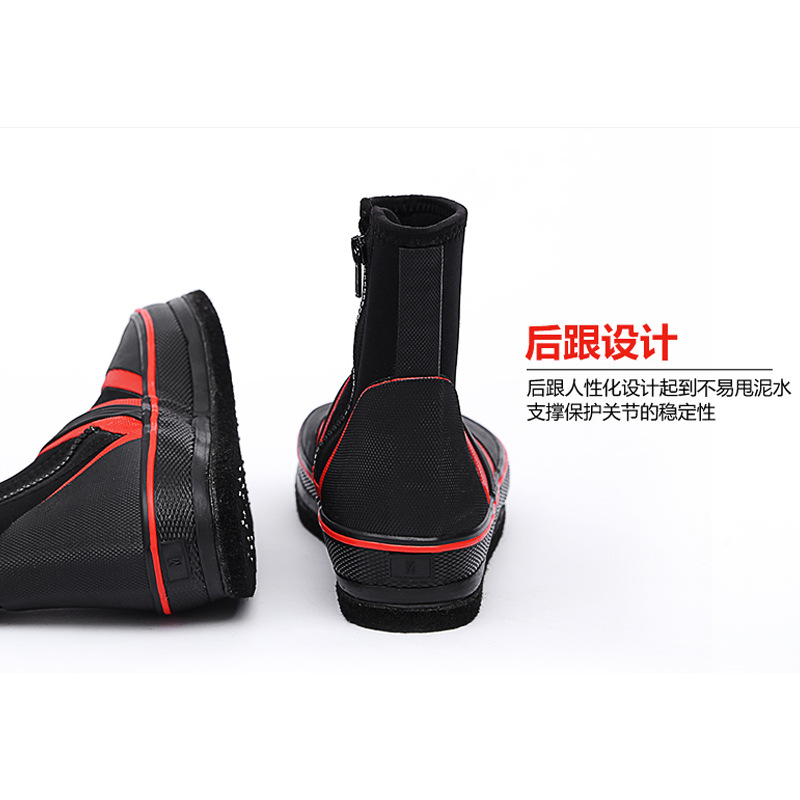 Hanging string and waterproof Sea Rain boots Rock fishing shoes Non-slip felt-soled