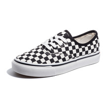 New Women's shoes black white plaid loafers lazy casual flat bottom foot