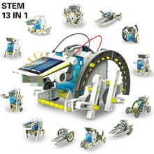 STEM Toys 13 In 1 Solar Power Robot DIY Kit Toy Educational Science Experiment Technology Toys for Boys and Girls Free Sticker