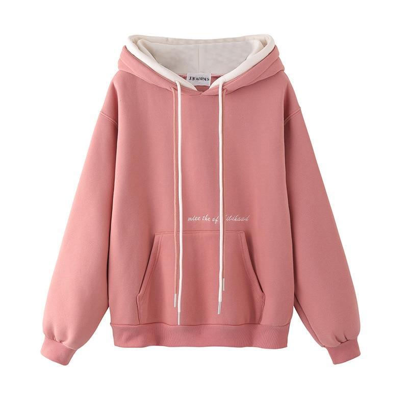 2020 New Hoodies Womens Sweatshirts Harajuku Hoodie Sweatshirt Hooded Pullover Tops Blouse With Pocket Fashion Clothes