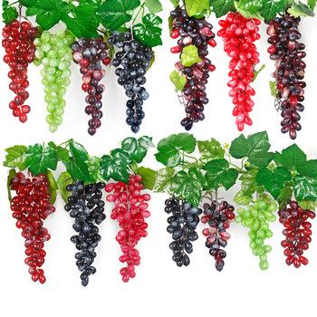 Sztuczne do zawieszenia winogrona DIY sztuczne owoce z tworzywa sztucznego sztuczne owoce dla dekoracja do przydomowego ogrodu boże narodzenie materiały na wesele tanie i dobre opinie Wusmart CN (pochodzenie) grape