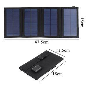 Image 3 - 50W מתקפל פנל סולארי 5V USB נייד מתקפל עמיד למים שמש פנל סולארי נייד מטען נייד כוח סוללה תשלום