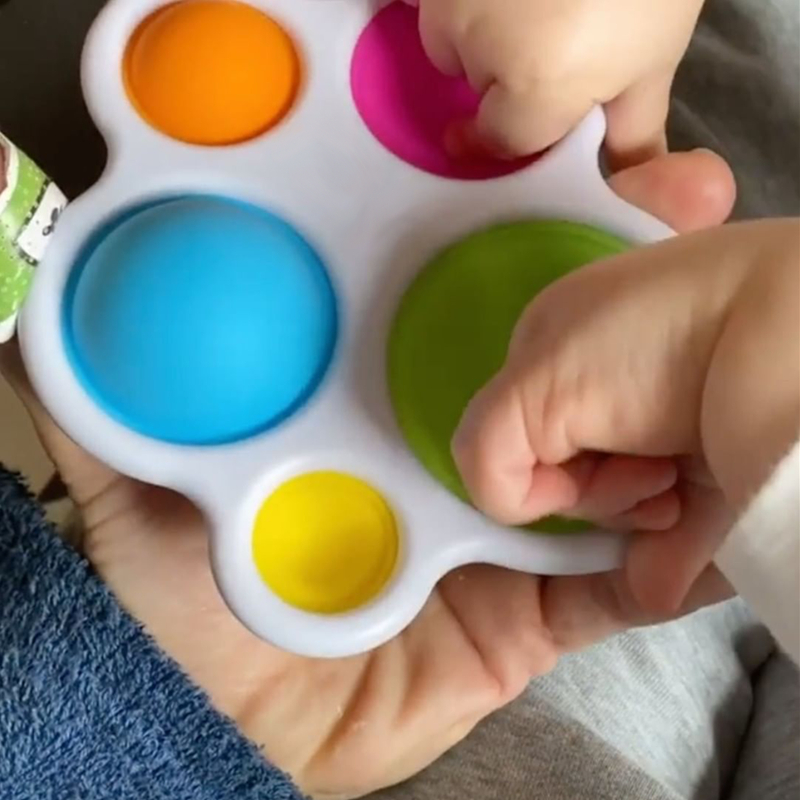 Infant Baby Toys Montessori Exercise Board Rattle Puzzle Colorful Intelligence Early Education Intensive Training 3