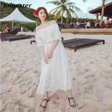 Платье женское с открытыми плечами пикантное свободное повседневное