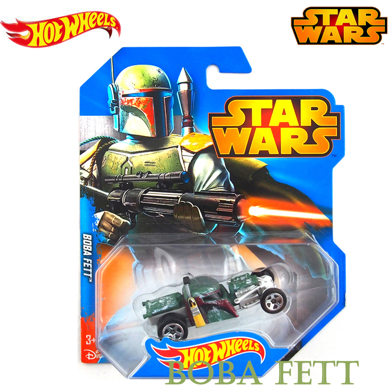 Genuine Hot Wheels Star Wars Series Role Boba fett Track Vehical Car Toys of Boy Kids Fashion Gifts CWG35