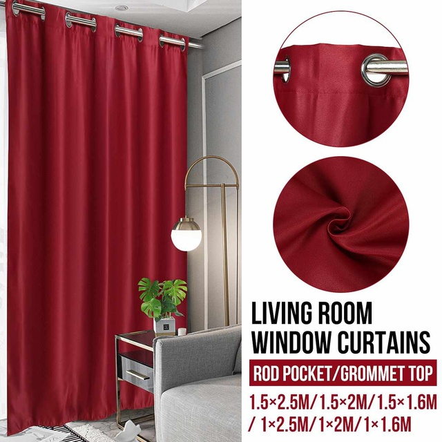 Bedroom Draperies Panels Blackout Window Curtains Living Room Bedroom Curtains for Window Treatment Drapes Solid Finished 1