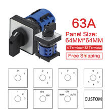 LW28-63 LW26-63 YMW26 series 63A 1 2 3 4 5 6 7 8 -Position Mounting Rotary Select Cam Changeover Switch Electrician Using Tools