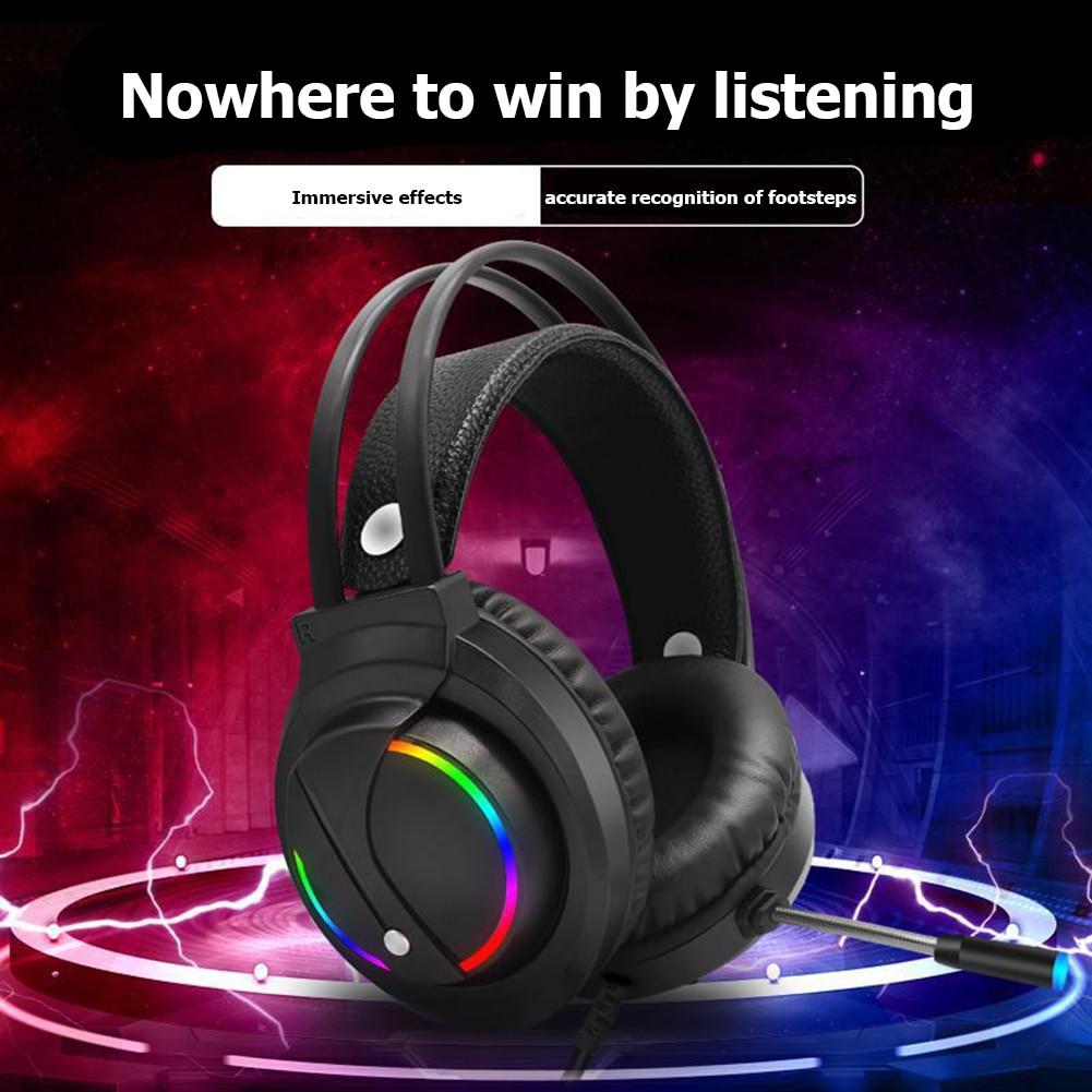 Wired Kopfhörer Bluetooth Headset Faltbare Stereo RGB Over-Ear Gaming Kopfhörer Mit Mikrofon Für PC Computer Spiele Laptops