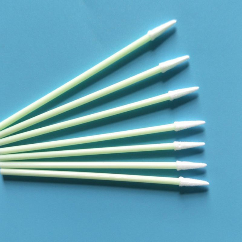 100Pcs/Pack Pointed Tipped Foam Head Cleaning Swabs High Density Sponge Sticks R3MF