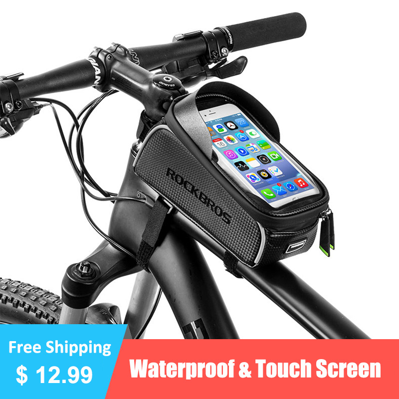 Bicycle Bag Waterproof Touch Screen Cycling Bag Top Front Tube Frame MTB Road <font><b>Bike</b></font> Bag 6.0 Phone <font><b>Case</b></font> <font><b>Bike</b></font> Accessories image