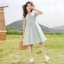 Children's Clothing Girls Short Sleeved Dress Summer 2021 New Big Children's Summer Children's Princess Dress with Doll Collar