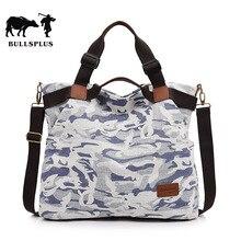 New vintage denim carry-on stiletto bag women Korean version of the one-shoulder bag camouflage canvas travel bag weekend bag