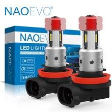 NAOEVO H11 Đèn LED Xe Hơi Ô Tô Sương Mù HB4 H8 HB3 H10 8W H16 9005 9006 Bóng Đèn 4SMD 1860 Chip Xe Ô Tô lái Xe Ngày Chạy 2000Lm Tự Động Bóng Đèn LED