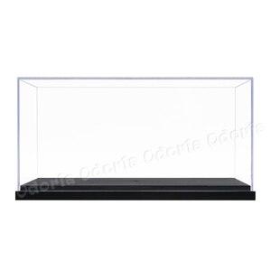 Image 2 - Odoria 24.8x12x11.5cm akrilik vitrin kutusu plastik taban toz geçirmez eylem şekilli kalıp otomobil araç Pop koleksiyon bebekler
