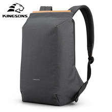 Kingsons 2020 Nieuwe Anti-Dief Mode Mannen Rugzak Multifunctionele Waterdichte 15.6 Inch Laptop Tas Man Usb Opladen Reistas(China)