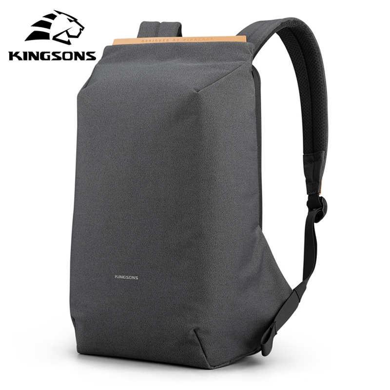 Kingsons 2020 yeni anti-hırsızlık moda erkekler sırt çantası çok fonksiyonlu su geçirmez 15.6 inç Laptop çantası adam USB şarj seyahat çantası